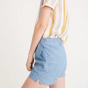 Madewell Chambray Pull-on Shorts in Edwina Wash